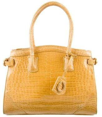Cece Cord Crocodile Top Handle Satchel