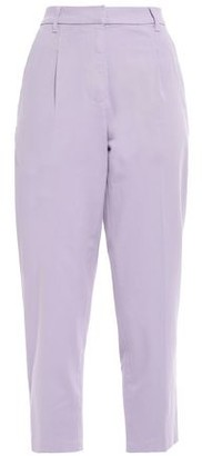 Current/Elliott Cropped Cotton-blend Gabardine Tapered Pants