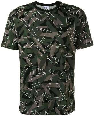 Les Hommes Urban graphic camouflage print T-shirt