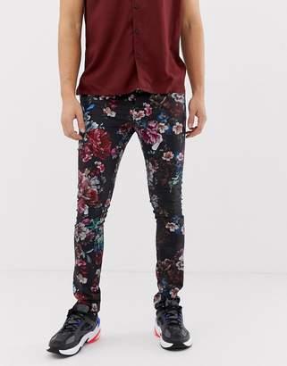 Asos Design DESIGN super skinny pants in floral print