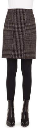 Akris Punto Houndstooth Metallic Jacquard Pencil Mini Skirt