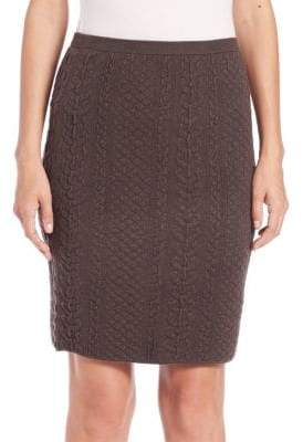 Natori Textured Knit Pencil Skirt