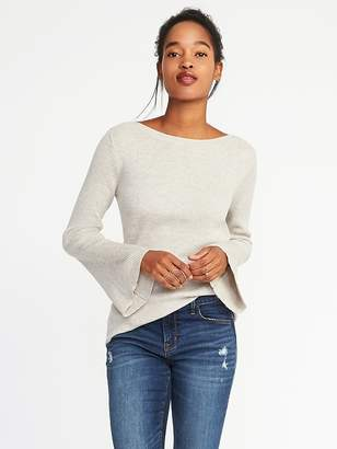 Old Navy Rib-Knit Bell-Sleeve Sweater for Women