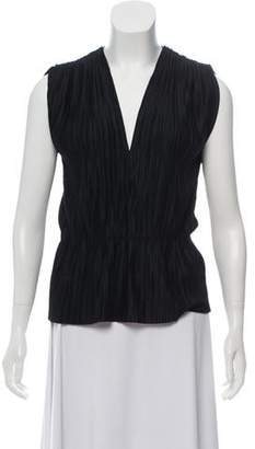 Behnaz Sarafpour Sleeveless Pleated Blouse