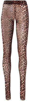 Ganni leopard print fitted leggings