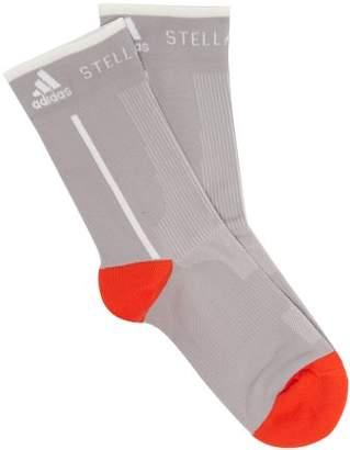 adidas by Stella McCartney Logo Jacquard Ankle Socks - Womens - Grey Multi