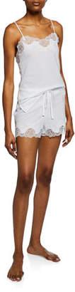 Natori Lace-Trim Camisole Short Set