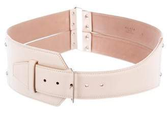 Alaà ̄a Leather Waist Belt Nude Alaà ̄a Leather Waist Belt
