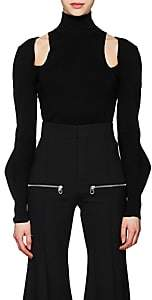 Chloé Women's Wool-Blend Cutout Turtleneck - Black