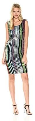 Nicole Miller Women's Gypsy Grunge Lauren Striped Jersey Dress