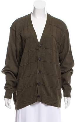 Oscar de la Renta Knit V-Neck Sweater