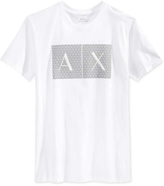 Armani Exchange Men Triangulation Graphic-Print Logo T-Shirt