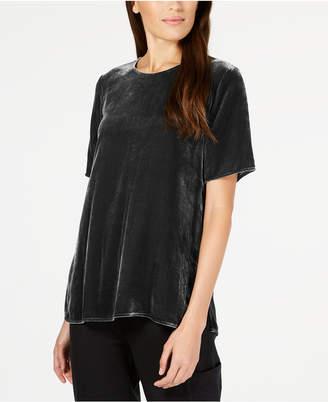 Eileen Fisher Velvet Short-Sleeve Top, Regular & Petite