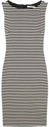 Max Mara Striped Stretch-knit Dress - Black