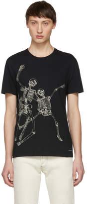 Alexander McQueen Black Dancing Skeletons T-Shirt