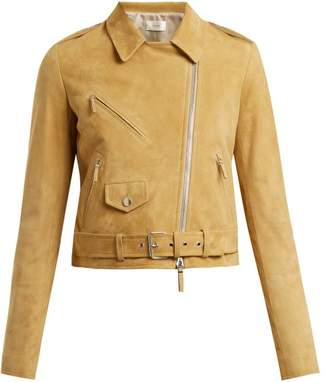 The Row Perlin Suede Biker Jacket - Womens - Beige