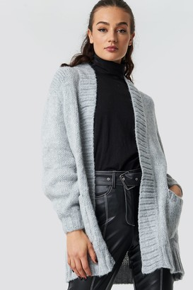 Trendyol Oversized Front Pocket Cardigan Brick