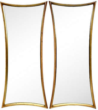One Kings Lane Vintage Art Deco-Style Giltwood Mirrors - Set of 2 - Cannery Row Home