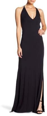 Couture Go Deep V-Neck Maxi Dress
