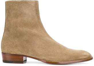 Saint Laurent Wyatt zippered boots