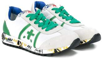 Premiata Kids embroidered sneakers