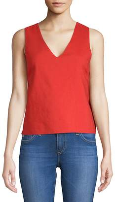 Moon River Women's Bow Cut-Out Top
