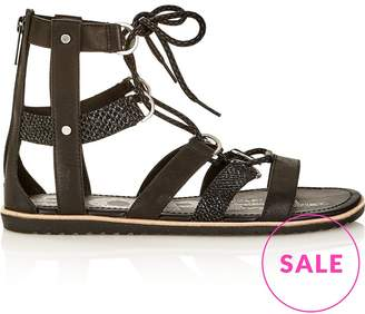 Sorel Ella Lace Up Sandals-Black