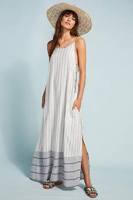 Holiday Regency Striped Cover-Up Dress