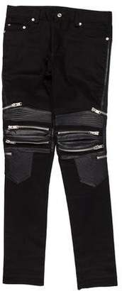 Saint Laurent Leather Biker Jeans