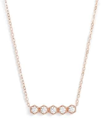 Nadri Hexagon Bar Necklace