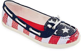 Arizona Womens Henley Boat Shoes Slip-on