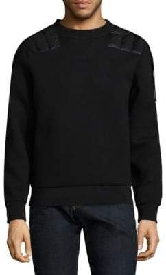 Moncler C Cotton Quilted Panel Sweatshirt