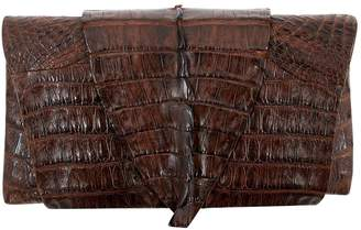 B. Romanek Brown Leather Clutch Bag