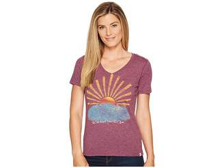 Life is Good Sun Doesn't Know Cool Vee Women's T Shirt