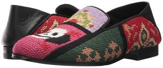 Alexander McQueen Tapestry Patchwork Slipper Women's Shoes