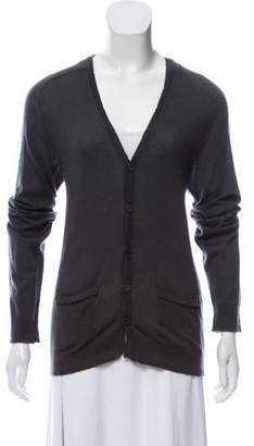 Balmain Button-Up Cashmere Cardigan