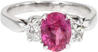 One Kings Lane Vintage 14K Gold - Ruby & Diamond Engagement Ring - Precious & Rare Pieces