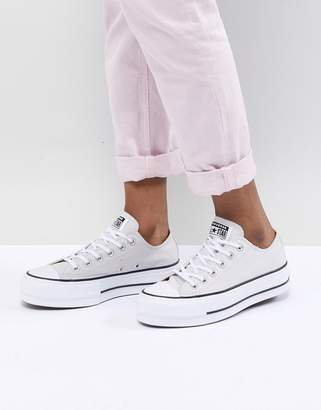 Converse Chuck Taylor All Star Platform Sneakers In Gray