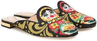 Charlotte Olympia Needlepoint matryoshka slippers
