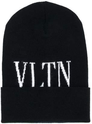 Valentino logo knit beanie