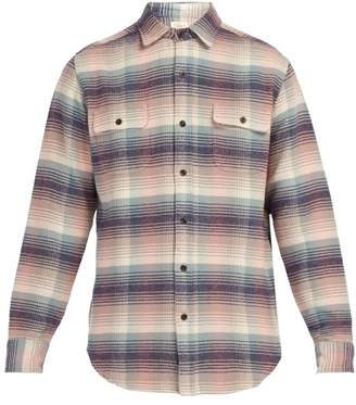 Faherty Belmar Cotton Shirt - Mens - Blue Multi