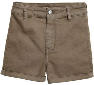 H&M Shorts High Waist - Green
