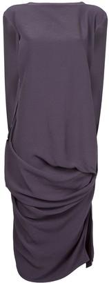 Rick Owens woven nouveau draped dress