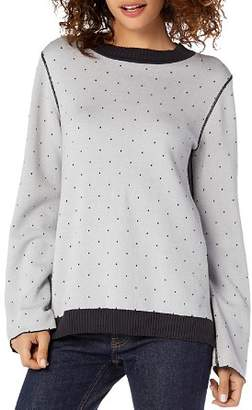 Michael Stars Reversible Dotted Sweatshirt