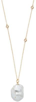 Bibi Van Der Velden - Baroque Pearl 18kt Gold & Diamond Pendant Necklace - Womens - Pearl