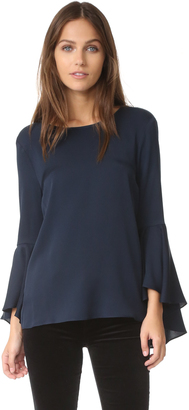 Milly Bell Sleeve Top $325 thestylecure.com