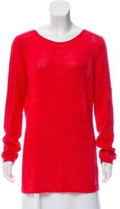 Rachel Zoe Long Sleeve Scoop Neck Sweater