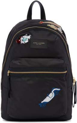 Marc Jacobs Black Nylon Collage Biker Backpack $250 thestylecure.com