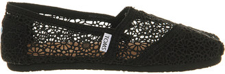 Toms Crochet slip-on espadrille shoes $48 thestylecure.com