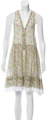 Philosophy di Lorenzo Serafini Eyelet-Trimmed Silk Dress
